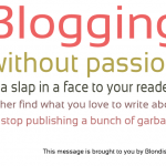 Graphic: Blog With Passion