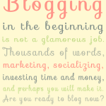 bloggingisnotglamorous