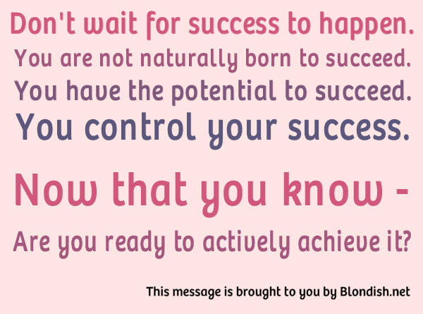 you control your success