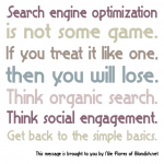 Graphic: SEO Is Not A Game