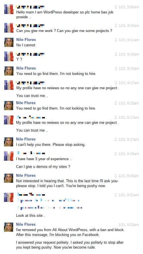 how not to ask for a job example