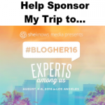 Help Sponsor My Trip to BlogHer16!